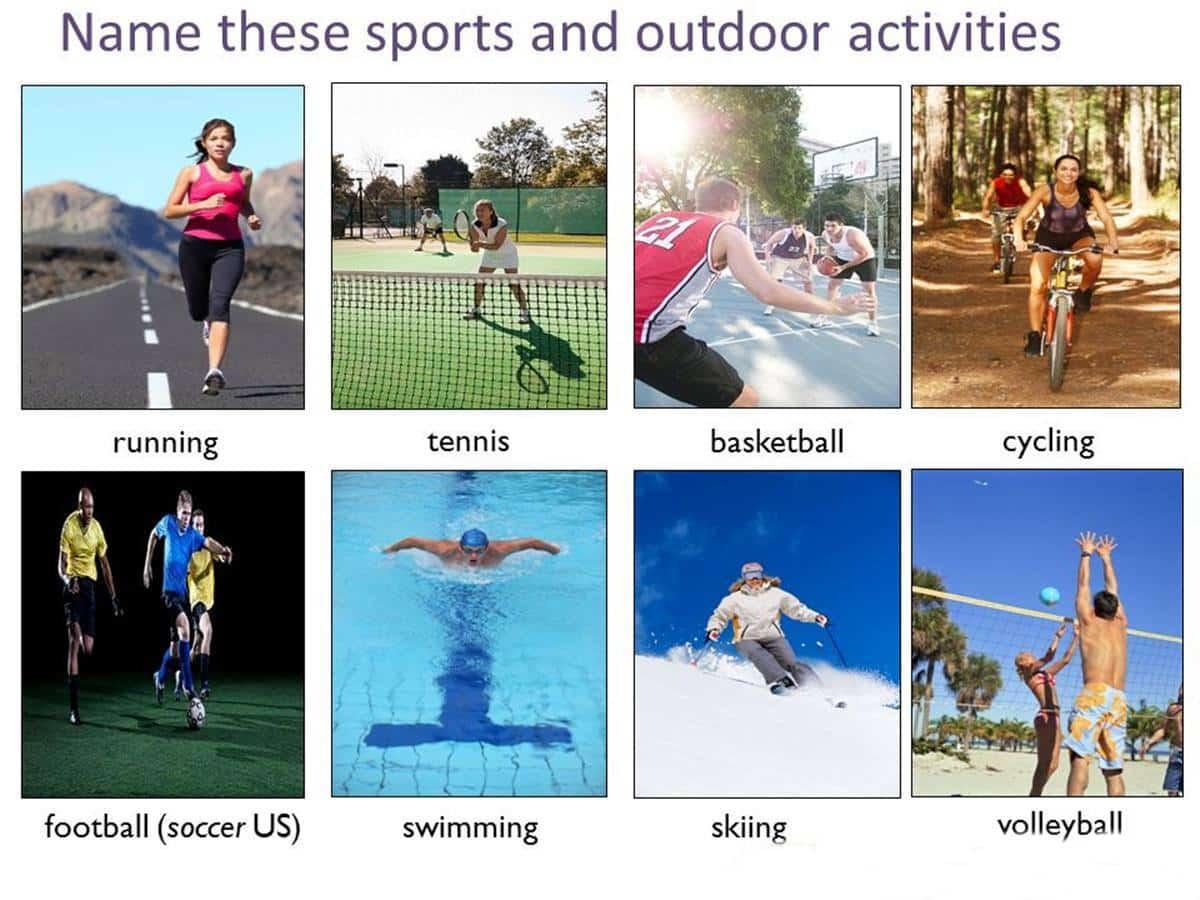 Vocabulaire des activités de plein air en anglais 2