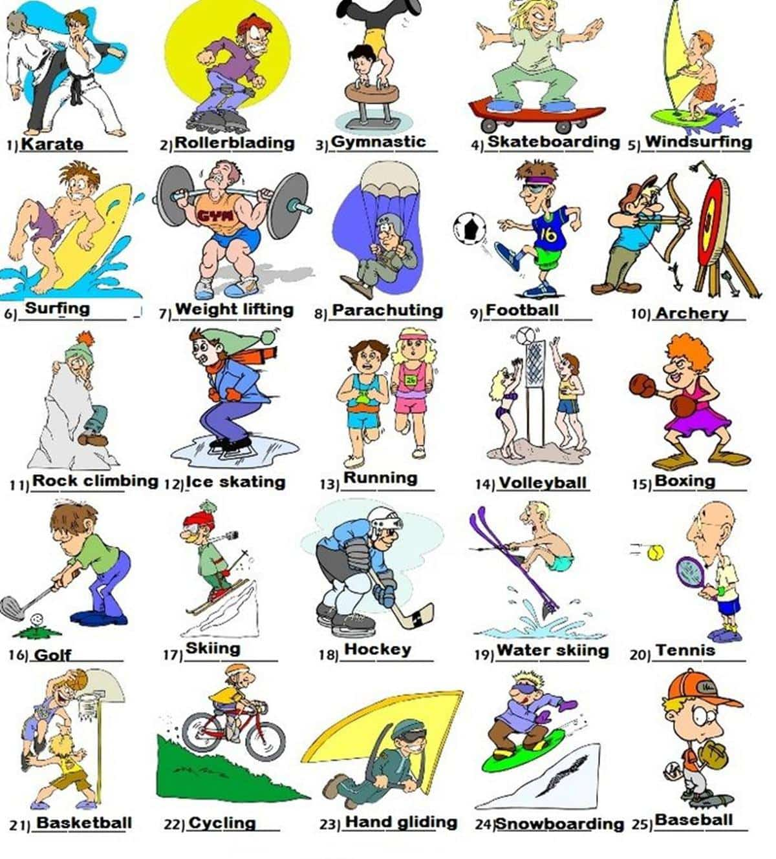 Vocabulaire des activités de plein air en anglais 1