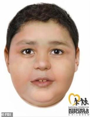 Les autorités ont publié ces images retouchées numériquement d'un garçon non identifié qui a été retrouvé assassiné et jeté sur un sentier de randonnée près de Las Vegas le mois dernier